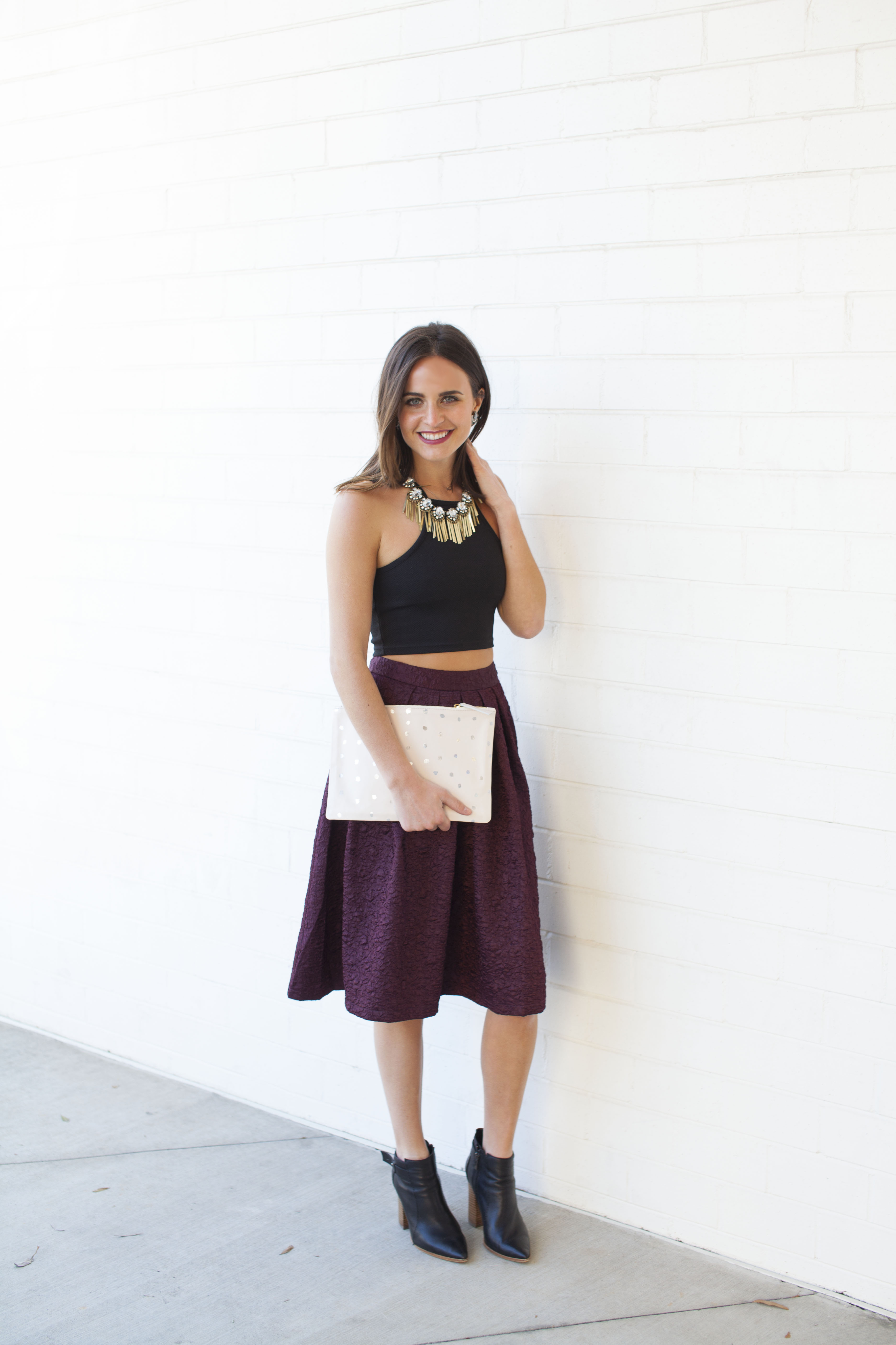 The Chic Series How To Wear A Crop Top In The Winter