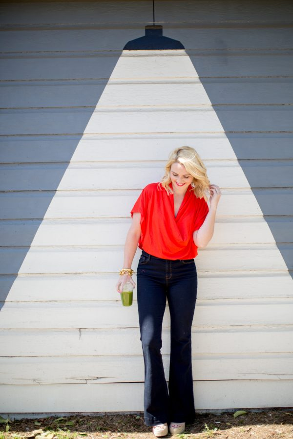 Catherine by Catherine Malandrino Top, Bright Tops to Pair with Denim, Orange Top, What to wear with high waisted denim
