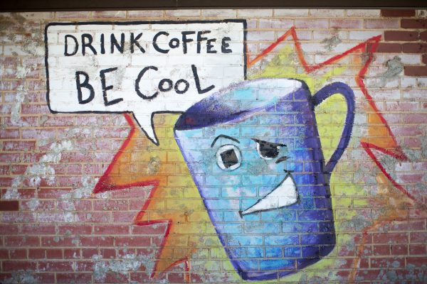 Cool Coffee Wall, Drink Coffee Be Cool