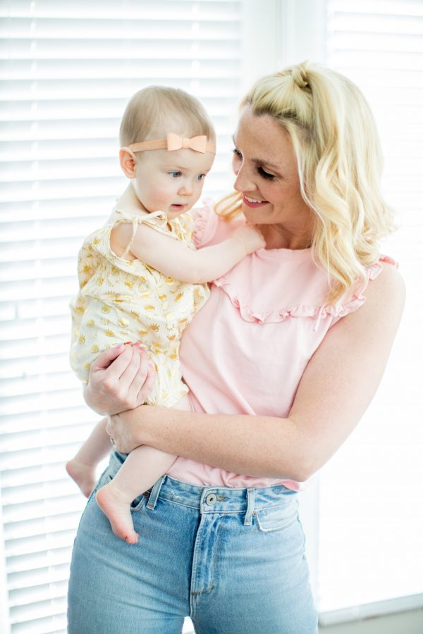 La Vie Rebecca Taylor Top, High Waisted Denim, Mom Style