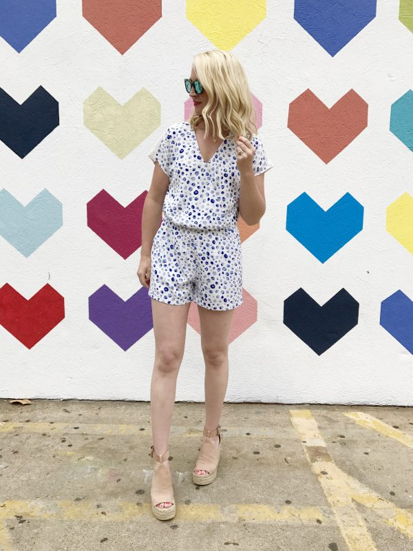 Cooper & Ella Romper, Marc Fisher Wedges, Madewell Sunglasses, What to wear in the summer, Summer Style, Chic mom style, liketoknow.it wall