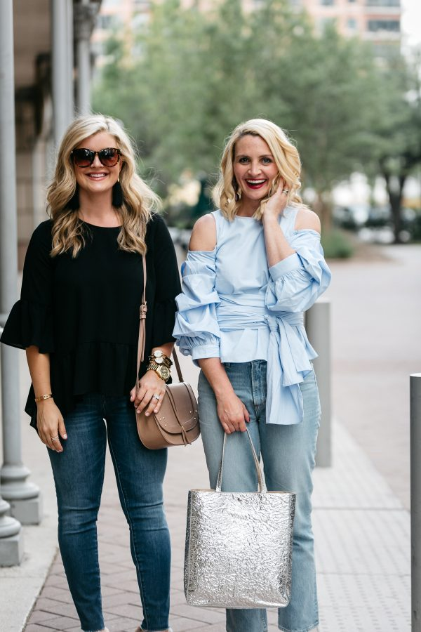 Cristin Cooper of the Southern Style Guide and Kate Brennan of The Chic Series at the Rewardstyle Conference, Two Moms in cute outfits, mom outfits, mom outfit inspiration