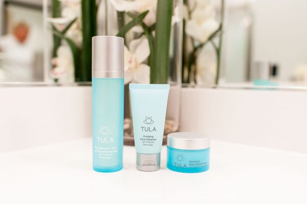 Tula 3 Step Program, Skincare for the woman who likes to sweat, Clean Skin, How to get clean skin, how to achieve a post workout glow, simple skincare routine, tula three step program