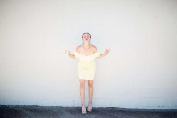 Yellow Dress, Summer Style, Tuckernuck Style, Yellow Dress Outfit, Yellow & Turquoise, Supergoop!