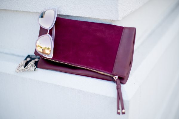 wine colored clutch