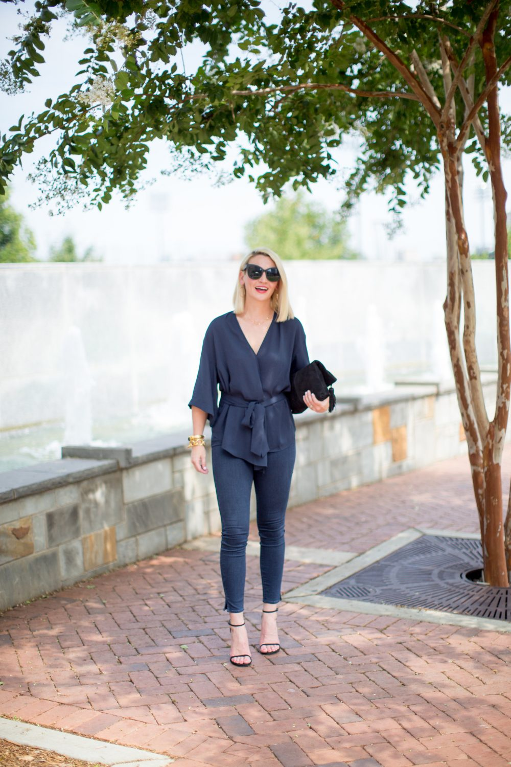 Mom style: Navy blouse from The Nordstrom Sale