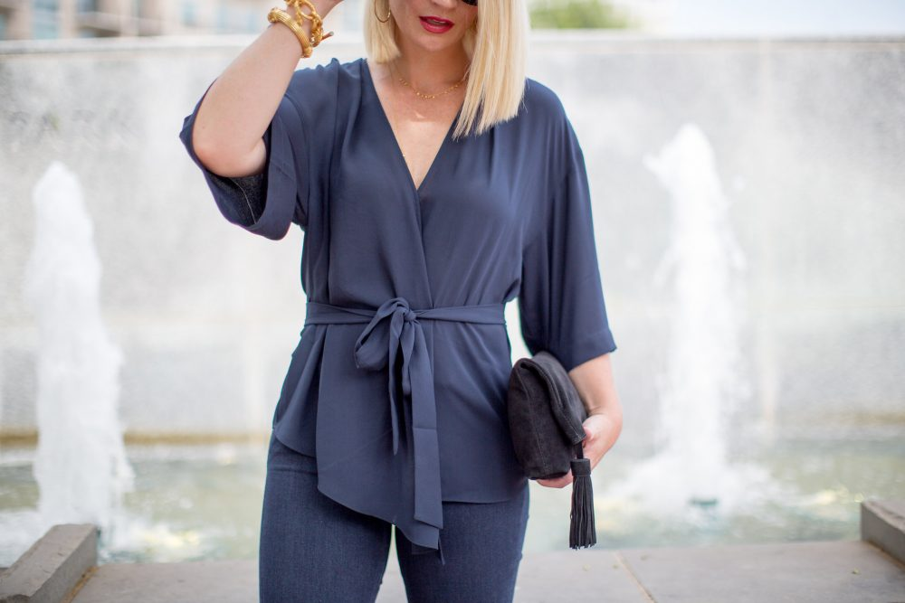 Perfect date night blouse for moms available at Nordstrom
