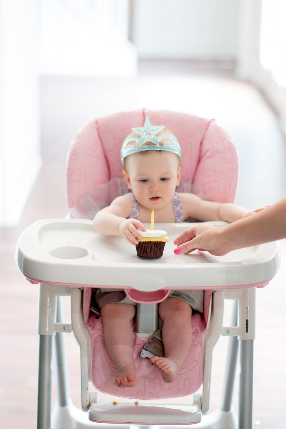 Cute baby eating a cupcake: Why you should switch to Dr. Browns Bottles