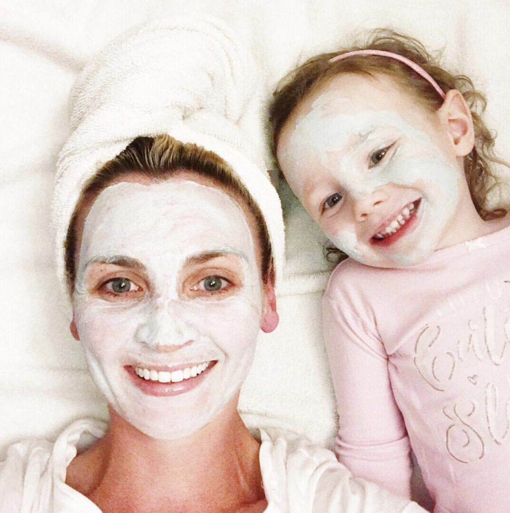 Korean skincare routine: mother daughter face mask