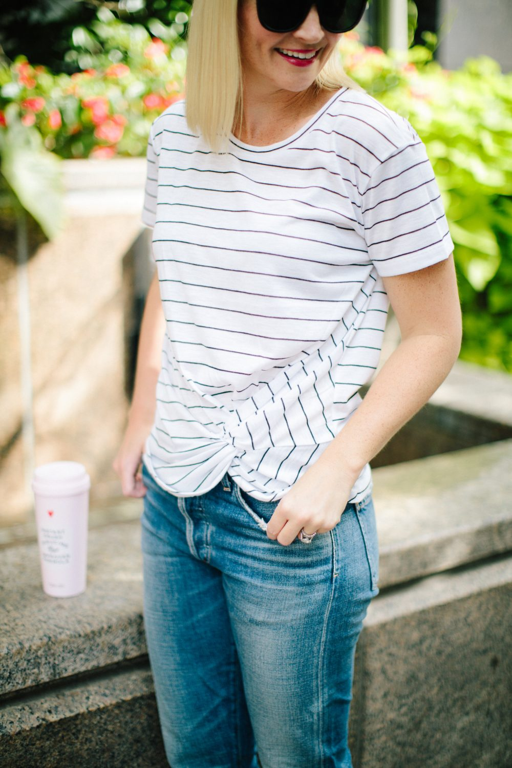 Striped T Shirt: Mom Style