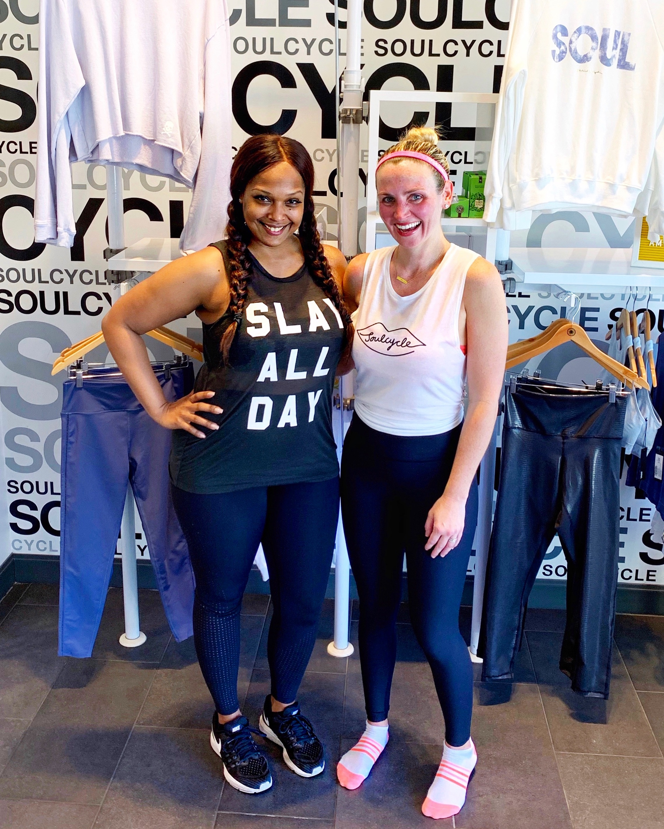 Ayana Curtis Soulcycle Mother's Day Ride with The Chic Series
